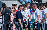 AMSTELVEEN - coach Jan John van 't Land (Adam)   tijdens  de hoofdklasse competitiewedstrijd hockey heren,  Amsterdam-SCHC (3-1). COPYRIGHT KOEN SUYK