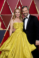 www.acepixs.com<br /> <br /> February 26 2017, Hollywood CA<br /> <br /> Leslie Mann and Judd Apatow arriving at the 89th Annual Academy Awards at Hollywood &amp; Highland Center on February 26, 2017 in Hollywood, California.<br /> <br /> By Line: Z17/ACE Pictures<br /> <br /> <br /> ACE Pictures Inc<br /> Tel: 6467670430<br /> Email: info@acepixs.com<br /> www.acepixs.com