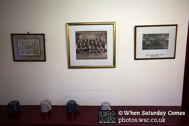 Arbroath 0 Edinburgh City 1, 15/03/2017. Gayfield Park, SPFL League 2. Old photographs in the tea room under the main stand at Gayfield Park before Arbroath hosted Edinburgh City in an SPFL League 2 fixture. The newly-promoted side from the Capital were looking to secure their place in SPFL League 2 after promotion from the Lowland League the previous season. They won the match 1-0 with an injury time goal watched by 775 spectators to keep them 4 points clear of bottom spot with three further games to play. Photo by Colin McPherson.