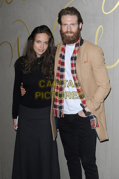 LONDON, ENGLAND - NOVEMBER 3: Aggy Kukawka and Craig McGinlay attend the Burberry Festive Film Premiere at Burberry Regent Street on November 3, 2015 in London, England.<br /> CAP/BEL<br /> &copy;BEL/Capital Pictures