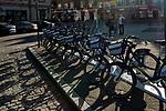 Wypożyczalnia rower&oacute;w miejskich na Placu Wolnica w Krakowie.<br /> Bike rental on Wolnica Square in Krakow.