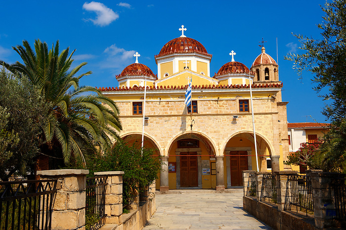 The Greek Orthodox Metropolitan church of Aegina, Saronic Islands, Greece