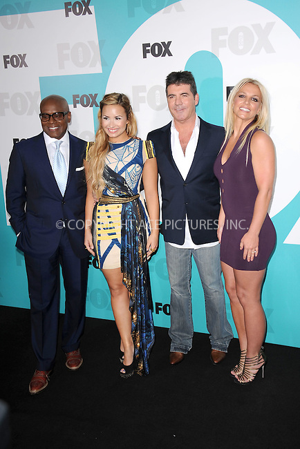 WWW.ACEPIXS.COM . . . . . .May 14, 2012...New York City....L.A. Reid, Demi Lovato, Simon Cowell and Britney Spears attending the 2012 FOX Upfront Presentation in Central Park on May 14, 2012  in New York City ....Please byline: KRISTIN CALLAHAN - ACEPIXS.COM.. . . . . . ..Ace Pictures, Inc: ..tel: (212) 243 8787 or (646) 769 0430..e-mail: info@acepixs.com..web: http://www.acepixs.com .