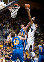 Allen Crabbe of California shoots the ball during the game against UCLA at Haas Pavilion in Berkeley, California on February 14th, 2013.   California defeated UCLA, 77-63.
