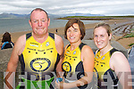 COMPETITORS: Ger Carroll, Theresa Richardson and Leanne McCarthy at the Tralee Triathlon Club Event in Fenit on Saturday.