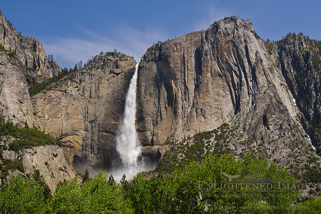 Upper Yosemite Falls in spring, Yosemite Valley, Yosemite National Park, California