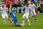 13.07.2019, Parkstadion, Zell am Ziller, AUT, FSP, Werder Bremen vs. Darmstadt 98<br /> <br /> im Bild / picture shows <br /> <br /> Davy Klaassen (Werder Bremen #30) verletut sich in dieser Szene <br /> Serdar Dursun (Darmstadt 98 #19)<br /> Christian Groß / Gross (Werder Bremen II #06)<br /> Foto © nordphoto / Kokenge