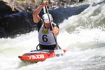06.07.2013 La Seu D'Urgell, Spain. ICF Canoe Slalom World Cup. Picture show Jan Benzien (GER) in action during canoe single C1 men Final at Parc Olimpic del Segre