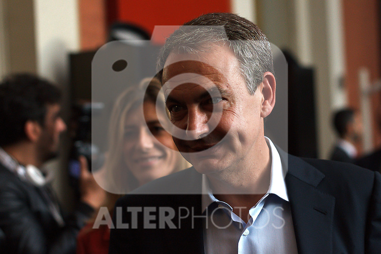 "Madrid,Spain - 16 10 2014- ""politics""-Former Spanish socialist leader Jose Luis Rodriguez Zapatero upon his arrival at the act for the 40th anniversary of the Suresnes congress (Foto: Guillermo Martinez /Bouza Press)"