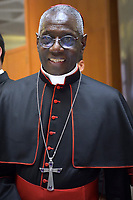 Cardinal Robert Sarah,  Pope Francis leads a consistory for the creation of five new cardinals  at St Peter's basilica in Vatican on  June 28, 2018