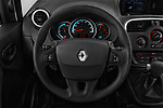 Car pictures of steering wheel view of a 2018 Renault Kangoo ZE Maxi ZE 2 places 4 Door Car van