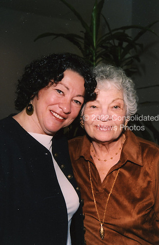Washington, DC - (FILE) -- Judge Sonia Sotomayor with her mother Celina Sotomayor, in a photo released by the White House on Tuesday, May 26, 2009.Credit: White House via CNP