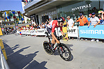 Tiesj Benoot (BEL) Lotto-Soudal during Stage 1 of the La Vuelta 2018, an individual time trial of 8km running around Malaga city centre, Spain. 25th August 2018.<br /> Picture: Ann Clarke | Cyclefile<br /> <br /> <br /> All photos usage must carry mandatory copyright credit (© Cyclefile | Ann Clarke)