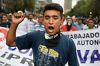 Mexico City laborers are protesting the government in Mexico City. The Mexico City government is laying of more than 40,000 people as the year long Electrical project got done.