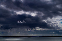 Storm Clouds over Noss Head and the North Sea from near the village of Keiss, Caithness