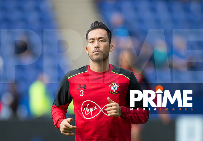 Maya Yoshida of Southampton pre match during the Premier League match between Leicester City and Southampton at the King Power Stadium, Leicester, England on 2 October 2016. Photo by Andy Rowland.