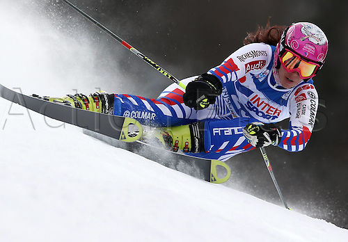 21.01.2012. Ski Alpine FIS WC Kranjska Gora RTL women  Ski Alpine FIS World Cup Giant slalom for women Picture shows Marion Bertrand FRA