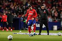 8th February 2020; Wanda Metropolitano Stadium, Madrid, Spain; La Liga Football, Atletico de Madrid versus Granada; Victor Machin VITOLO (Atletico de Madrid)  Pre-match warm-up