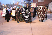 Organizations, Students for Health Equity, Fearless Leading by the Youth (F.L.Y.), KOCO and Rise Chicago joined forces for a Trauma Center Funeral March Wednesday evening that went from 61st and Cottage Grove to the front of the University of Chicago Hospital.
