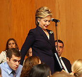 """Washington, D.C. - September 21, 2004 -- United States Senator Hillary Rodham Clinton (Democrat of New York) arrives before speaking at the Center for American Progress seminar titled """"Transforming the Reserve Component for the 21st Century"""" at Georgetown University in Washington, D.C. on September 21, 2001.  In her remarks, Senator Clinton criticized the Bush Administration for a lack of resources for the National Guard, even in the face of their expanded role in national security and homeland security efforts..Credit: Ron Sachs / CNP.(RESTRICTION: NO New York or New Jersey Newspapers or newspapers within a 75 mile radius of New York City)"""