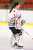 Leah Sulyma (NU - 1) - The Northeastern University Huskies defeated the Boston University Terriers in a shootout after being tied at 4 following overtime in their Beanpot semi-final game on Tuesday, February 2, 2010 at the Bright Hockey Center in Cambridge, Massachusetts.