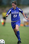 Kate Seibert of Duke on Sunday October 2nd, 2005 at SAS Stadium in Cary, North Carolina. The Duke University Blue Devils defeated the North Carolina State University Wolfpack 1-0 during an Atlantic Coast Conference women's soccer game.