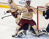 Johnny Gaudreau (BC - 13), Patrick Brown (BC - 23), Steven Summerhays (ND - 1), Kevin Lind (ND - 25) - The Boston College Eagles defeated the visiting University of Notre Dame Fighting Irish 4-2 to tie their Hockey East quarterfinal matchup at one game each on Saturday, March 15, 2014, at Kelley Rink in Conte Forum in Chestnut Hill, Massachusetts.