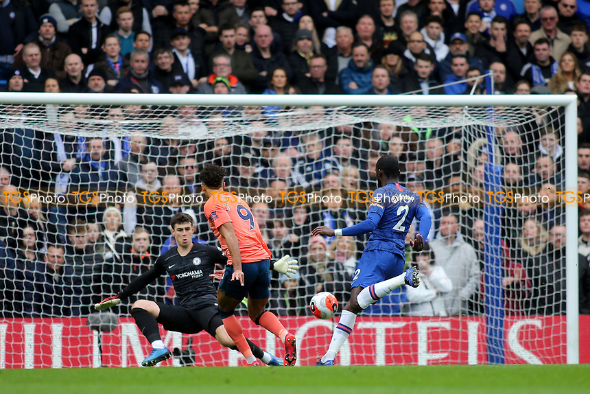 Dominic Calvert-Lewin of Everton misses a great opportunity to open the scoring for Everton during Chelsea vs Everton, Premier League Football at Stamford Bridge on 8th March 2020