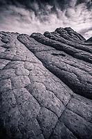 Fascinating sandstone textures in this remote region of the Vermillion Cliffs wilderness.