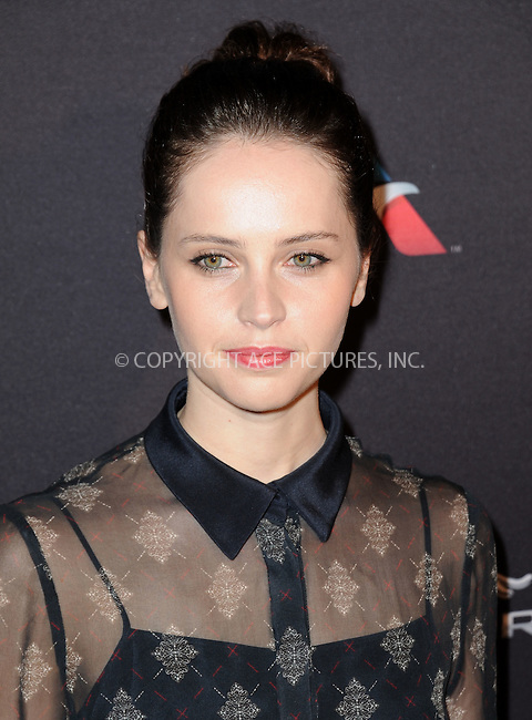 WWW.ACEPIXS.COM<br /> <br /> January 10 2015, LA<br /> <br /> Felicity Jones attending the 2015 BAFTA Tea Party at The Four Seasons Hotel on January 10, 2015 in Beverly Hills, California.<br /> <br /> By Line: Peter West/ACE Pictures<br /> <br /> <br /> ACE Pictures, Inc.<br /> tel: 646 769 0430<br /> Email: info@acepixs.com<br /> www.acepixs.com