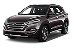 2018 Hyundai Tucson Executive 5 Door SUV angular front stock photos of front three quarter view