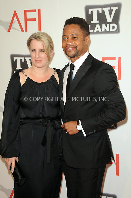 WWW.ACEPIXS.COM . . . . .  ....June 9 2011, Los Angeles....Actor Cuba Gooding Jr. (R) and Sara Kapfer arriving at the 2011 AFI Lifetime Achievement Awards honoring Morgan Freeman held at Sony Picture Studios on June 9, 2011....Please byline: PETER WEST - ACE PICTURES.... *** ***..Ace Pictures, Inc:  ..Philip Vaughan (212) 243-8787 or (646) 679 0430..e-mail: info@acepixs.com..web: http://www.acepixs.com