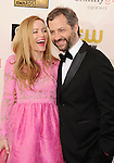 SANTA MONICA, CA - JANUARY 10: Leslie Mann and Judd Apatow arrives at the 18th Annual Critics' Choice Movie Awards at The Barker Hanger on January 10, 2013 in Santa Monica, California.