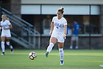 Ashton Miller (4) of the Duke Blue Devils passes the ball during first half action against the High Point Panthers at Koskinen Stadium on September 11, 2016 in Durham, North Carolina.  The Blue Devils defeated the Panthers 4-1.   (Brian Westerholt/Sports On Film)