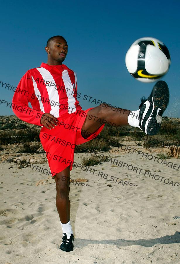 Fudbal,.Pripreme FK Crvena Zvezda, Cyprus.Bernard Parker.Agia Napa, 01.22.2009.foto: Srdjan Stevanovic/Starsportphoto.com ©