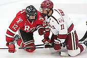 Viktor Liljegren (RPI - 12), Kyle Criscuolo (Harvard - 11) - The Harvard University Crimson defeated the visiting Rensselaer Polytechnic Institute Engineers 5-2 in game 1 of their ECAC quarterfinal series on Friday, March 11, 2016, at Bright-Landry Hockey Center in Boston, Massachusetts.