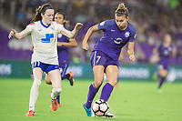 Orlando, FL - Saturday June 03, 2017: Rose Lavelle, Steph Catley during a regular season National Women's Soccer League (NWSL) match between the Orlando Pride and the Boston Breakers at Orlando City Stadium.