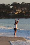 Woman on Carmel Beach