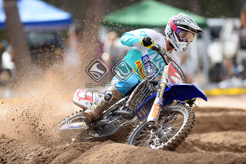 Luke Styke / Serco Yamaha<br /> Monster Energy MX Nationals / MX2<br /> 2013 Motorcross Championships<br /> Round 7 / Hervey Bay QLD<br /> Sunday July 28th 2013<br /> &copy; Sport the library/Jeff Crow
