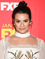 HOLLYWOOD, CA - JANUARY 08: Actress/singer Lea Michele attends the Premiere Of FX's 'The Assassination Of Gianni Versace: American Crime Story' at ArcLight Hollywood on January 8, 2018 in Hollywood, California.<br /> CAP/ROT/TM<br /> &copy;TM/ROT/Capital Pictures