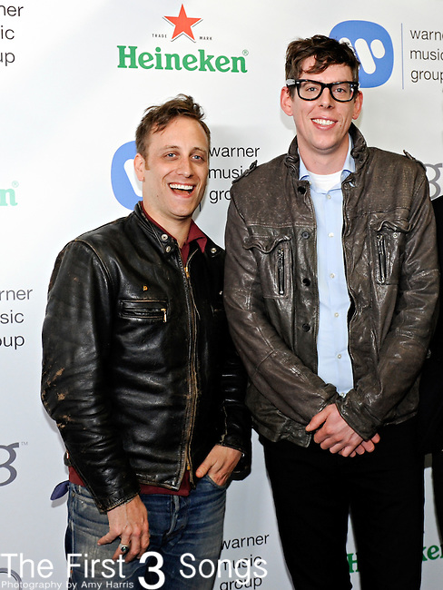 Dan Auerbach and Patrick Carney of The Black Keys attend the Warner Music Group/Bing Grammy Event at the Soho House in LA on Sunday February 13, 2011.