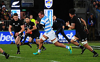 Benjamin Macome in action during the Rugby Championship match between the NZ All Blacks and Argentina Pumas at Yarrow Stadium in New Plymouth, New Zealand on Saturday, 9 September 2017. Photo: Dave Lintott / lintottphoto.co.nz