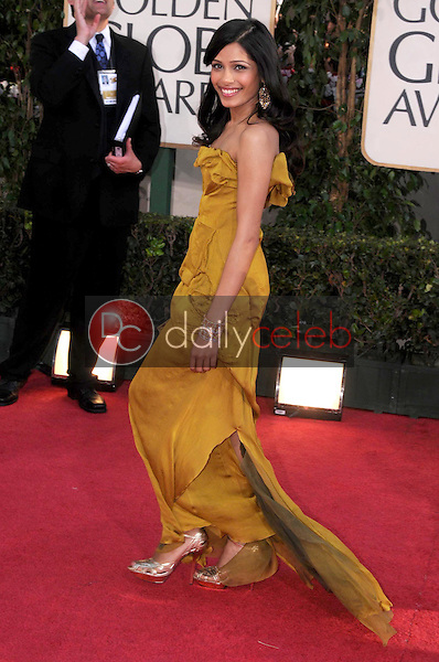 Freida Pinto<br />at the 66th Annual Golden Globe Awards. Beverly Hilton Hotel, Beverly Hills, CA. 01-11-09<br />Dave Edwards/DailyCeleb.com 818-249-4998