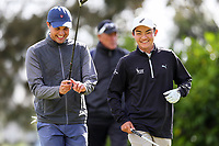 Mako Thompson (L) and Kazuma Kabori. New Zealand Amateur Golf Championship, Remuera Gold Club, Auckland, New Zealand. Thursday 31  October 2019. Photo: Simon Watts/www.bwmedia.co.nz/NZGolf