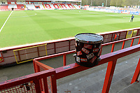 Stevenage Supporters Drum during  during Stevenage vs Cambridge United, Sky Bet EFL League 2 Football at the Lamex Stadium on 14th April 2018