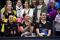 The match officials after the ANZ Premiership netball grand final between the Central Pulse and Southern Steel at Arena Manawatu in Palmerston North, New Zealand on Sunday, 12 August 2018. Photo: Dave Lintott / lintottphoto.co.nz
