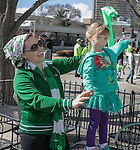 Four year old Lilly and Brittney Hardiman during the Shamrock Shuffle 5k fun run in Sparks on Saturday, March 4, 2017.