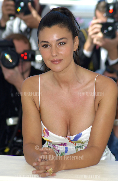 Actress MONICA BELLUCCI at the Cannes Film Festival to promote her new movie Irreversible..24MAY2002.  © Paul Smith / Featureflash