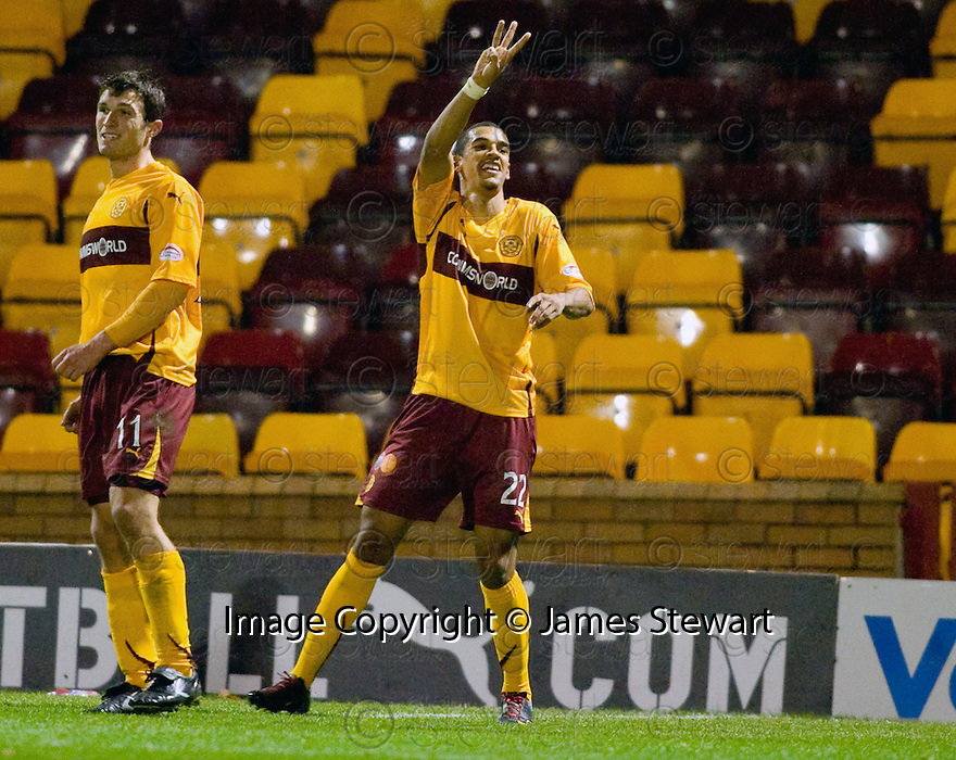 10/11/2010   Copyright  Pic : James Stewart.sct_jspa002_motherwell_v_st_johnstone  .::  NICK BLACKMAN CELEBRATES AFTER HE SCORES HIS THIRD  ::.James Stewart Photography 19 Carronlea Drive, Falkirk. FK2 8DN      Vat Reg No. 607 6932 25.Telephone      : +44 (0)1324 570291 .Mobile              : +44 (0)7721 416997.E-mail  :  jim@jspa.co.uk.If you require further information then contact Jim Stewart on any of the numbers above.........
