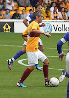 New Motherwell captain Keith Lasley in the Motherwell v Everton friendly match at Fir Park, Motherwell on 21.7.12 for Steven Hammell's Testimonial.